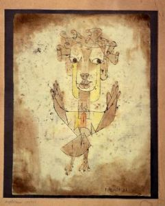 Klee's Angelus Novus (1920), discussed by Benjamin in the 9th Thesis as the Angel of History