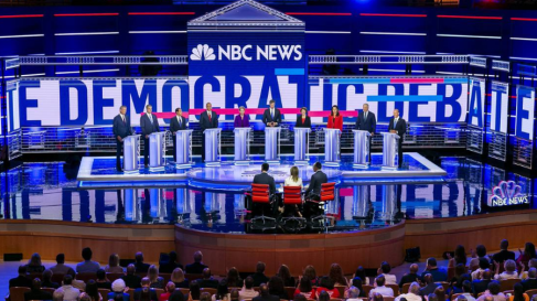 Image of Candidates on Day 1 of debates