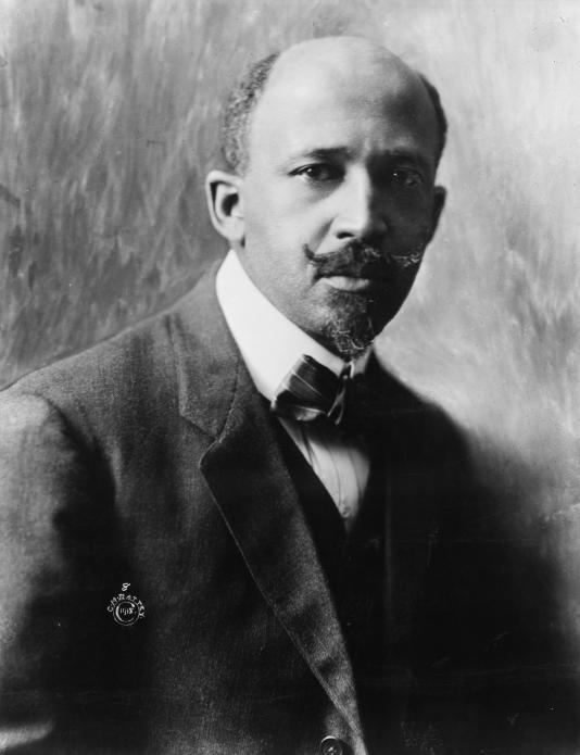 Black and white photograph of Du Bois, looking at the camera